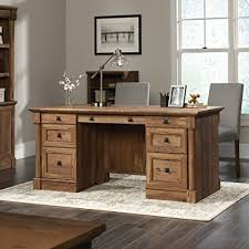 sauder 420606 palladia l desk vo a2 computer vintage oak amazon com sauder palladia executive desk in vintage oak kitchen