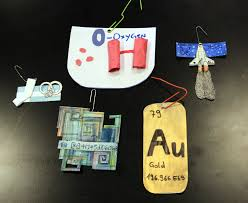 make elements ornaments for a chemistry tree chemistry