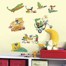 roommates rmk3287scs pete the cat peel and stick wall decals
