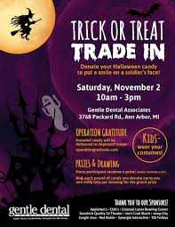 trick or treat trade in happening saturday november 2nd
