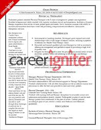 physical therapist resume template physical therapist resume sle career igniter