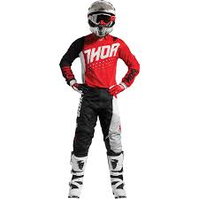 thor motocross helmet thor 2017 mx new pulse aktiv jersey pants red black dirt bike