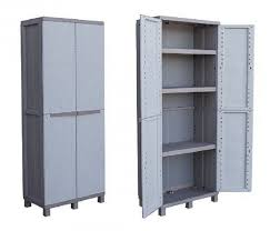 armadietto resina armadietto resina esterno terry storage 2 ante 3 ripiani cm 68x39x170h