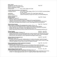 Sample Resume For One Year Experienced Software Engineer by Net Resume Template Billybullock Us