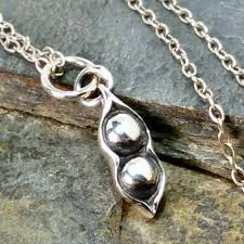 peas in a pod charm two peas in a pod necklace 925 sterling silver handmade