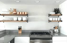 kitchen shelves ideas open kitchen shelves instead of cabinets practical and trendy