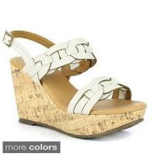 l artiste donwell black s l artiste leather floral trim wedge sandals