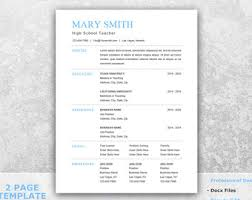 Best One Page Resume Format by Best Resume Etsy