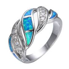 opal rings jewelry images Aquamarine sapphire jewelry opal ring 925 sterling silver rings jpg