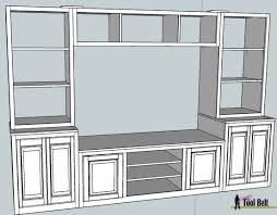 wall unit plans entertainment center pb media center plan bookshelves toy