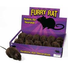 amazon com black furry rat prop toys u0026 games