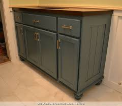 Furniture Style Bathroom Vanities Teal Furniture Style Vanity Made From Stock Cabinets Finished