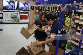 wal mart prepares for black friday shopping photos and images