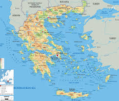 Italy Physical Map by Large Detailed Physical Map Of Greece With All Cities Roads And