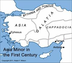 Asia Minor Map by Introduction To 1 Peter Discipleship Lessons From The Fisherman