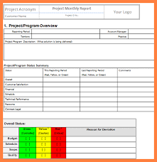 project monthly status report template 6 project management progress report template progress report