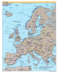 Map Of Europe And Capitals by
