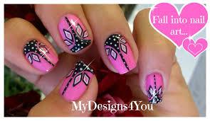 pink and black nail art abstract nails розовый дизайн ногтей
