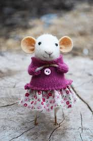 coquet mouse needle felted ornament felting dreams by