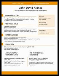 examples of resumes 14 free elegant and professional resume