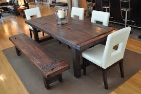 Bench Dining Tables Dining Room Nice Rustic Dining Table Dining Table With Bench On