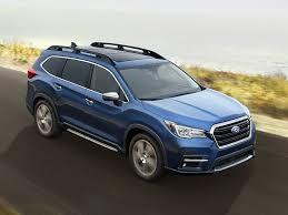 subaru crossover blue 2019 subaru ascent crossover debuts as brand u0027s biggest model