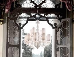 Outdoor Hanging Chandeliers Nella Vetrina Italamp 284 8 4 Modern Chandelier In White Crystal