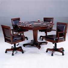 poker game table set ambassador game table set with chairs by hillsdale