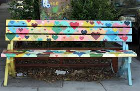 Benches In Park - the neighborhood park bench project jen hewett printmaker
