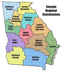 maps regional commissions map georgiainfo