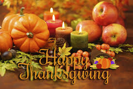 happy thanksgiving day pumpkin candles hd wallpaper