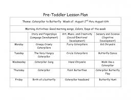 blank lesson plan template infants sample weekly 4 year old