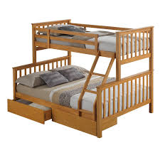 Three Sleeper Bunk Bed Artisan Beech Triple Sleeper Next Day Select Day Delivery
