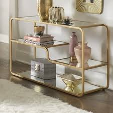 Entry Console Table With Mirror with Gold Mirror Console Table Wayfair