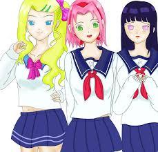 and hinata ino and hinata school colors by ngotaudixemay on