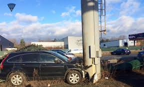 car crashes into pole in worcester massachusetts necn