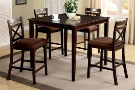 High Top Table Set Simple Dining Room Design With Square Espresso High Top Kitchen