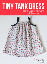 diy tiny tank dress free baby pattern u0026 tutorial icandy