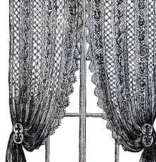 vintage lace curtains clip art clip art ephemera and craft