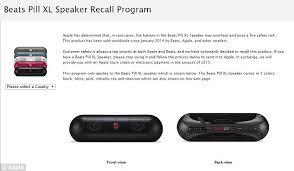 beats pill black friday apple recalls beats speaker over u0027fire safety risk u0027 daily mail
