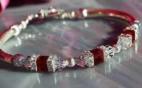 red crystal bracelet images Swarovski red siam cube crystal bracelet zingo gallery JPG