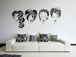 Beautiful Wall Stickers For Room Interior Design Popular Hair Salon Vinyl Wall Decal Girls Hairstyle