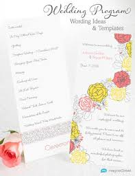 ceremony cards for weddings wedding program wording magnetstreet weddings