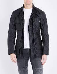belstaff roadmaster waxed cotton jacket in black for men lyst