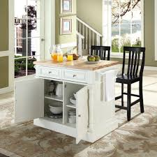 crosley kitchen island crosley furniture kf300062wh oxford butcher block top kitchen