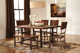 ashley dining table with bench ashley furniture d572 dining room set dining rooms pinterest