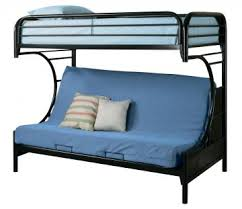 Youth TwinFuton Bunk Bed In Black K - Futon bunk bed