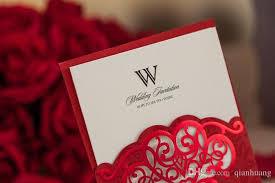 free wedding invite sles laser cut wedding invitations white hollow rhinestone wedding