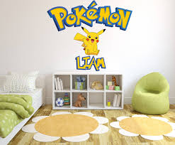 add this personalised pokemon pikachu wall decal sticker your walls