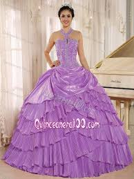 birthday dress multi tiered lavender haltered sweet 15 16 birthday dress